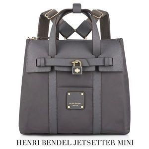 NWT Henri Bendel Grey Jetsetter Mini